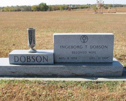 DOBSON, INGEBORG T - Cowley County, Kansas | INGEBORG T DOBSON - Kansas Gravestone Photos
