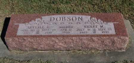 DOBSON, VIOLET M - Cowley County, Kansas | VIOLET M DOBSON - Kansas Gravestone Photos