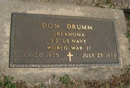 "DRUMM, DONALD ""DON"" (VETERAN WWII) - Cowley County, Kansas | DONALD ""DON"" (VETERAN WWII) DRUMM - Kansas Gravestone Photos"