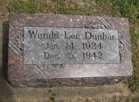 DUNBAR, WANDA LEE - Cowley County, Kansas   WANDA LEE DUNBAR - Kansas Gravestone Photos