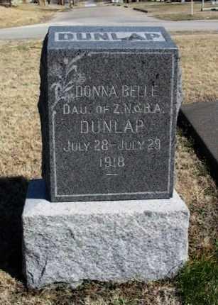 DUNLAP, DONNA BELLE - Cowley County, Kansas   DONNA BELLE DUNLAP - Kansas Gravestone Photos