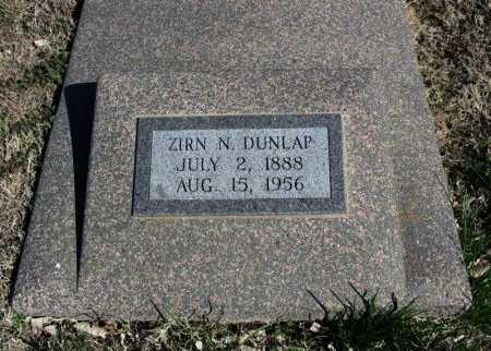 DUNLAP, ZIRN NORWELL - Cowley County, Kansas | ZIRN NORWELL DUNLAP - Kansas Gravestone Photos