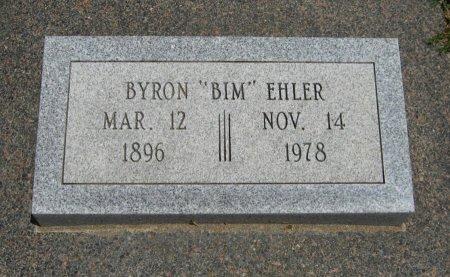 "EHLER, BYRON MORTON ""BIM"" - Cowley County, Kansas | BYRON MORTON ""BIM"" EHLER - Kansas Gravestone Photos"