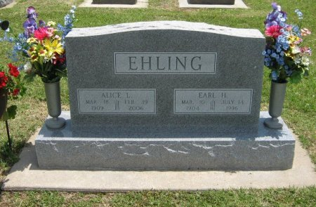 EHLING, ALICE LAVON - Cowley County, Kansas | ALICE LAVON EHLING - Kansas Gravestone Photos
