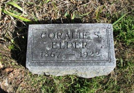 ELDER, CORALIE S - Cowley County, Kansas | CORALIE S ELDER - Kansas Gravestone Photos