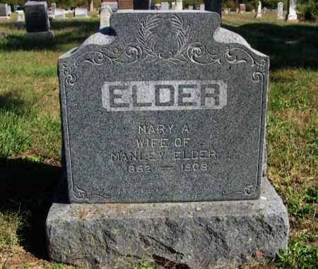 ELDER, MARY A - Cowley County, Kansas | MARY A ELDER - Kansas Gravestone Photos