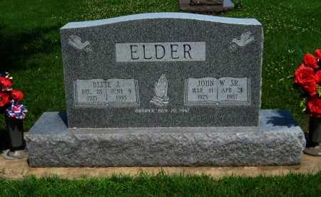 ELDER, JOHN WILLIAM, SR - Cowley County, Kansas | JOHN WILLIAM, SR ELDER - Kansas Gravestone Photos