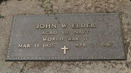 ELDER, JOHN WILLIAM, SR   (VETERAN WWII) - Cowley County, Kansas   JOHN WILLIAM, SR   (VETERAN WWII) ELDER - Kansas Gravestone Photos