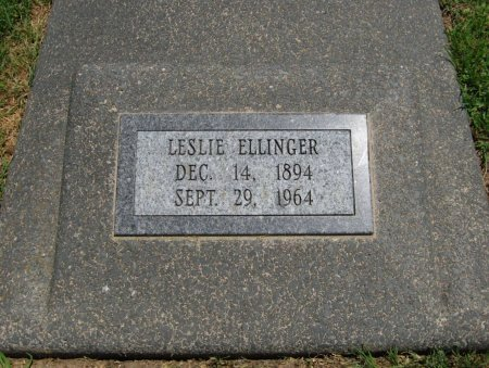 ELLINGER, LESLIE FRANK - Cowley County, Kansas   LESLIE FRANK ELLINGER - Kansas Gravestone Photos