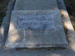"ELLINGER, MELANCHTHAN ""MELANC"" - Cowley County, Kansas | MELANCHTHAN ""MELANC"" ELLINGER - Kansas Gravestone Photos"