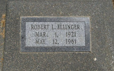 ELLINGER, ROBERT LESLIE (VETERAN WWII) - Cowley County, Kansas   ROBERT LESLIE (VETERAN WWII) ELLINGER - Kansas Gravestone Photos