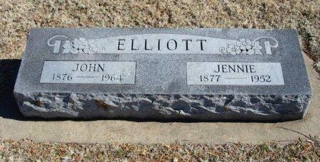 "ELLIOTT, JANE ""JENNIE"" - Cowley County, Kansas   JANE ""JENNIE"" ELLIOTT - Kansas Gravestone Photos"