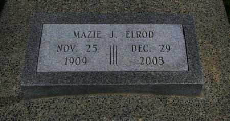 ELROD, MAZIE J - Cowley County, Kansas | MAZIE J ELROD - Kansas Gravestone Photos