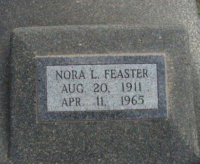 FEASTER, NORA - Cowley County, Kansas | NORA FEASTER - Kansas Gravestone Photos