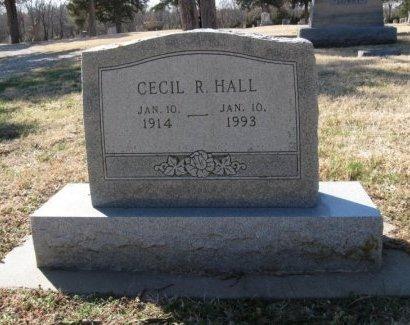 HALL, CECIL R - Cowley County, Kansas   CECIL R HALL - Kansas Gravestone Photos