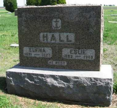EASTMAN HALL, ELVINA ELSIE - Cowley County, Kansas | ELVINA ELSIE EASTMAN HALL - Kansas Gravestone Photos