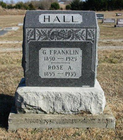 HALL, GEORGE FRANKLIN - Cowley County, Kansas | GEORGE FRANKLIN HALL - Kansas Gravestone Photos