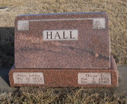 HALL, OSCAR E - Cowley County, Kansas | OSCAR E HALL - Kansas Gravestone Photos