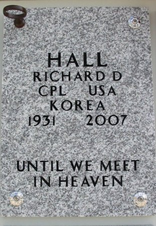 HALL, RICHARD D (VETERAN KOR) - Cowley County, Kansas   RICHARD D (VETERAN KOR) HALL - Kansas Gravestone Photos