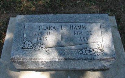 HAMM, CLARA L - Cowley County, Kansas | CLARA L HAMM - Kansas Gravestone Photos