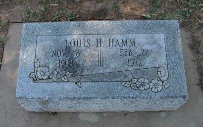 HAMM, LOUIS H - Cowley County, Kansas | LOUIS H HAMM - Kansas Gravestone Photos