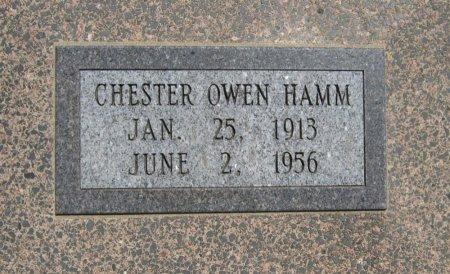 HAMM, CHESTER OWEN (VETERAN WWII) - Cowley County, Kansas   CHESTER OWEN (VETERAN WWII) HAMM - Kansas Gravestone Photos