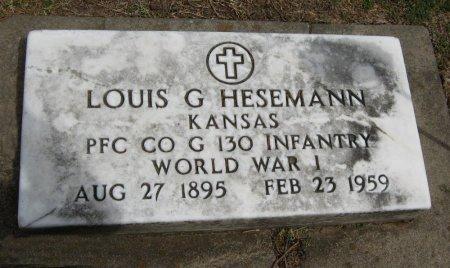HESEMANN, LOUIS G (VETERAN WWI) - Cowley County, Kansas   LOUIS G (VETERAN WWI) HESEMANN - Kansas Gravestone Photos