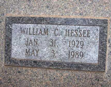 HESSEE, WILLIAM C - Cowley County, Kansas   WILLIAM C HESSEE - Kansas Gravestone Photos