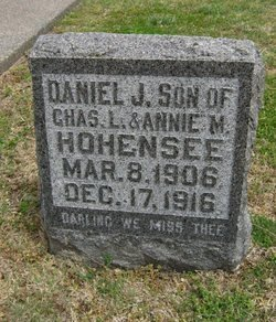 HOHENSEE, DANIEL J - Cowley County, Kansas | DANIEL J HOHENSEE - Kansas Gravestone Photos