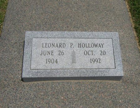 HOLLOWAY, LEONARD P  (VETERAN WWII) - Cowley County, Kansas   LEONARD P  (VETERAN WWII) HOLLOWAY - Kansas Gravestone Photos