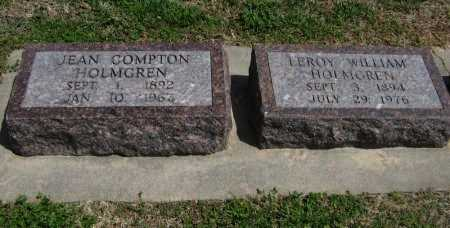 COMPTON HOLMGREN, JEAN - Cowley County, Kansas | JEAN COMPTON HOLMGREN - Kansas Gravestone Photos