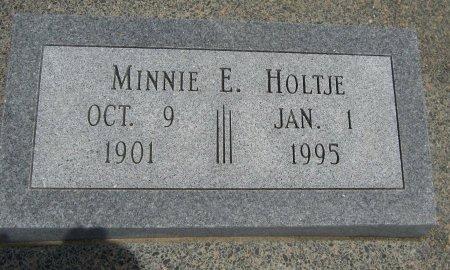 HOLTJE, MINNIE E - Cowley County, Kansas   MINNIE E HOLTJE - Kansas Gravestone Photos