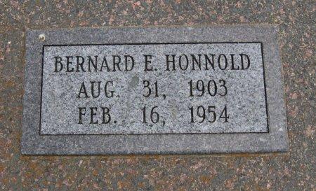 HONNOLD, BERNARD EDWIN - Cowley County, Kansas   BERNARD EDWIN HONNOLD - Kansas Gravestone Photos