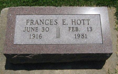 HOTT, FRANCES E - Cowley County, Kansas | FRANCES E HOTT - Kansas Gravestone Photos