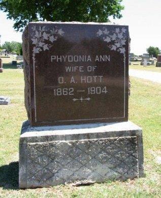 HOTT, PHYDONIA ANN  - Cowley County, Kansas | PHYDONIA ANN  HOTT - Kansas Gravestone Photos