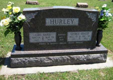 HURLEY, GEORGE ERNEST - Cowley County, Kansas | GEORGE ERNEST HURLEY - Kansas Gravestone Photos