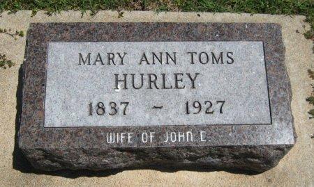 HURLEY, MARY ANN - Cowley County, Kansas   MARY ANN HURLEY - Kansas Gravestone Photos