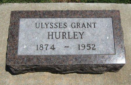 HURLEY, ULYSSES GRANT - Cowley County, Kansas | ULYSSES GRANT HURLEY - Kansas Gravestone Photos