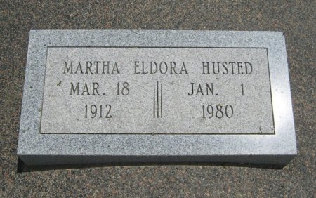 "HUSTED, MARTHA ELDORA ""DORA"" - Cowley County, Kansas | MARTHA ELDORA ""DORA"" HUSTED - Kansas Gravestone Photos"