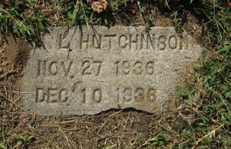 HUTCHINSON, JOHN L - Cowley County, Kansas | JOHN L HUTCHINSON - Kansas Gravestone Photos