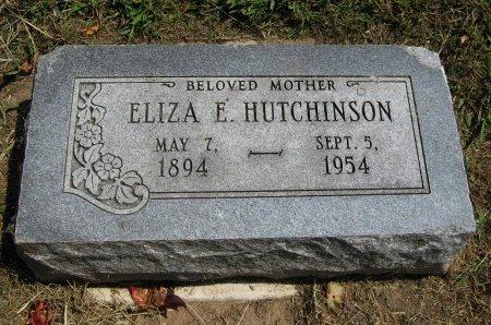 HUTCHINSON, ELIZA ELLEN - Cowley County, Kansas | ELIZA ELLEN HUTCHINSON - Kansas Gravestone Photos