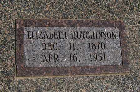 HUTCHINSON, ELIZABETH - Cowley County, Kansas   ELIZABETH HUTCHINSON - Kansas Gravestone Photos