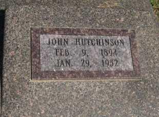 HUTCHINSON, JOHN - Cowley County, Kansas | JOHN HUTCHINSON - Kansas Gravestone Photos