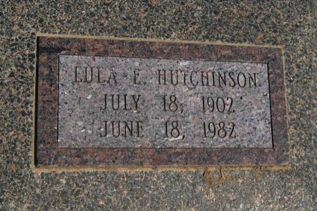 HUTCHINSON, LULA ELIZABETH - Cowley County, Kansas | LULA ELIZABETH HUTCHINSON - Kansas Gravestone Photos