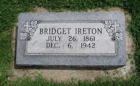 IRETON, BRIDGET - Cowley County, Kansas | BRIDGET IRETON - Kansas Gravestone Photos