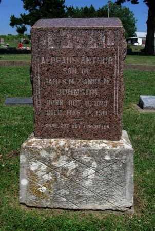 JOHNSON, ALPHAUS ARTHUR - Cowley County, Kansas | ALPHAUS ARTHUR JOHNSON - Kansas Gravestone Photos