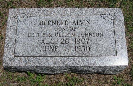 "JOHNSON, BERNARD ALVIN ""BERNIE"" - Cowley County, Kansas | BERNARD ALVIN ""BERNIE"" JOHNSON - Kansas Gravestone Photos"