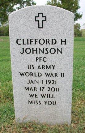 JOHNSON, CLIFFORD H (VETERAN WWII) - Cowley County, Kansas   CLIFFORD H (VETERAN WWII) JOHNSON - Kansas Gravestone Photos