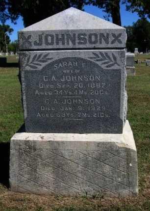 JOHNSON, SARAH F - Cowley County, Kansas | SARAH F JOHNSON - Kansas Gravestone Photos