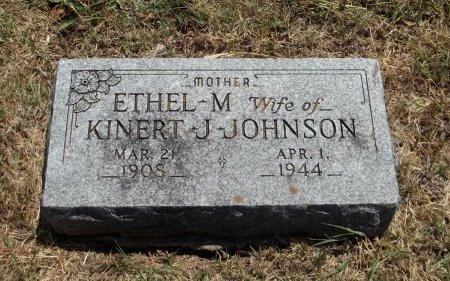 JOHNSON, ETHEL M - Cowley County, Kansas   ETHEL M JOHNSON - Kansas Gravestone Photos